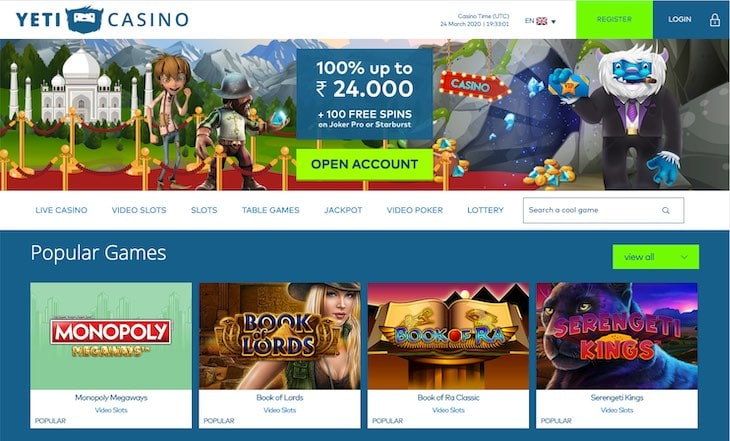Yeti Casino Review