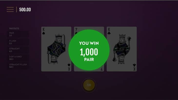 How to play Teen Patti Rapid Step 2